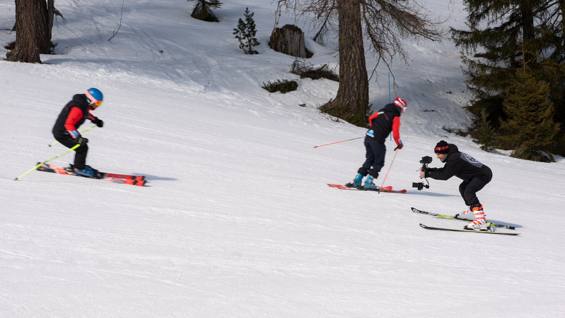 filmowanie narciarstwa na stoku
