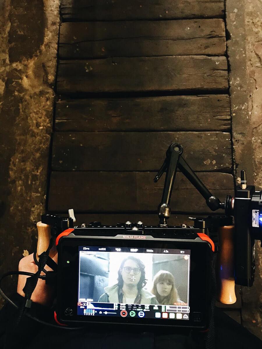 rzut na monitor podglądowy do kamery